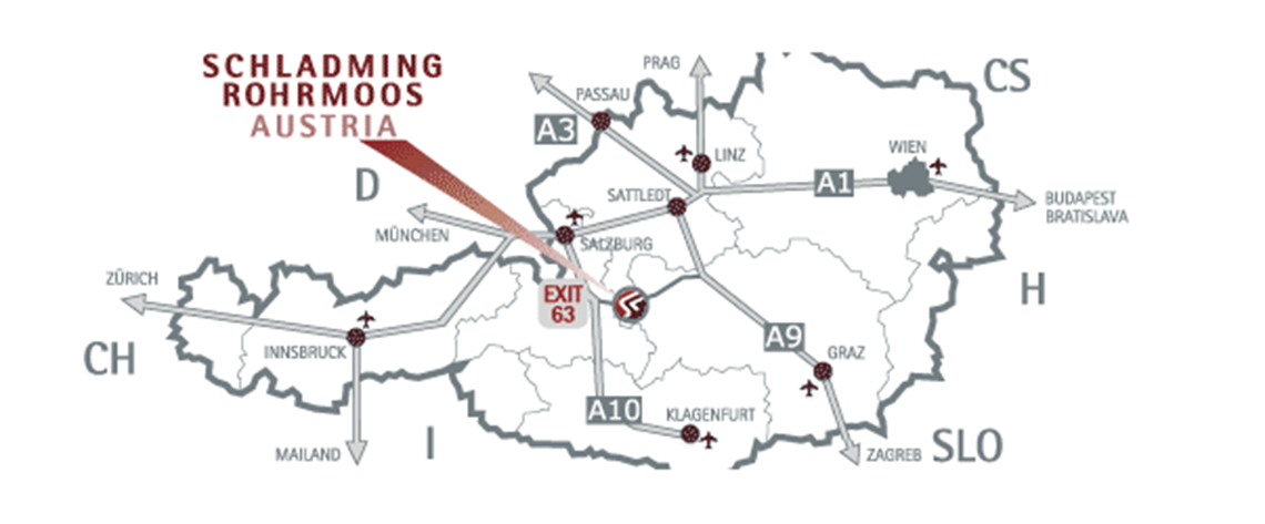 Anreise Zum Aparthotel Tritscher In Schladmingrohrmoos